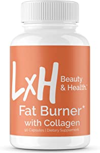 LxH Collagen Fat Burner Supports Healthy Weight Loss - Appetite Suppressant Diet Pills with Apple Cider Vinegar & Green Tea Extract - Hair Skin & Nail Belly Fat Burner for Women & Men, 90 Capsules