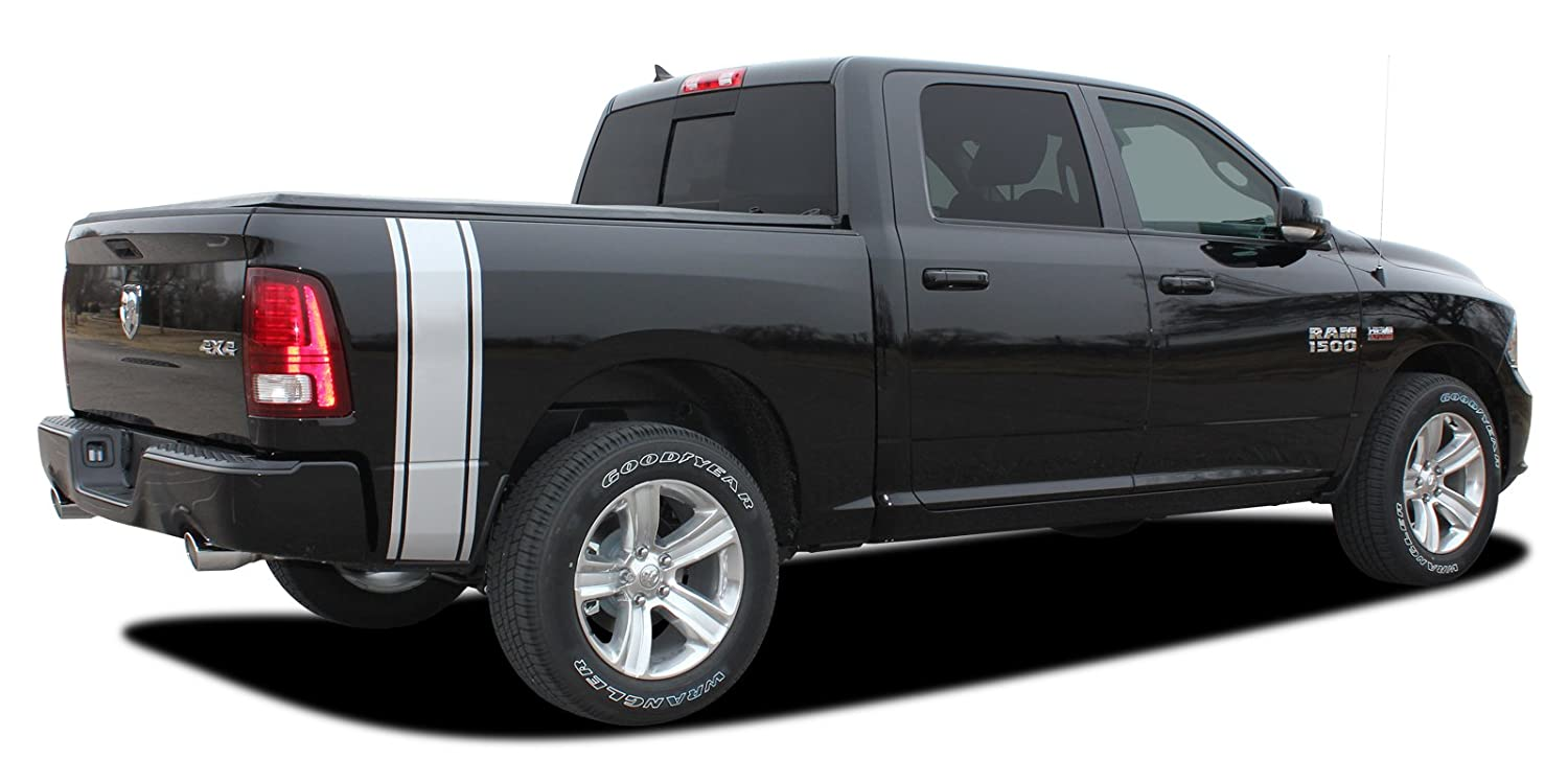 Amazoncom RAM RUMBLE STRIPES Dodge Ram Rear Truck - Truck bed decals custombody graphicsdodge ram