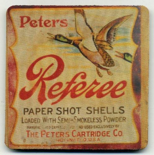 Peters Referee Duck  Hunting Ammo Box Coaster Set of 4 - Paper Shot Shells