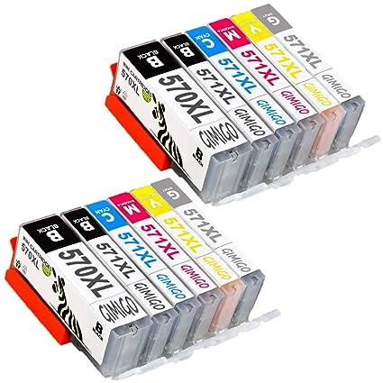 GIMIGO PGI- 570 xl cli-571 X L pgi570 XL cli571 XL Cartuchos de ...