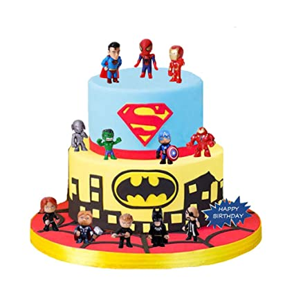 12 Piezas De Decoración Para Tarta De Los Vengadores Y Superhéroes Decoración Para Cupcakes Decoración Para