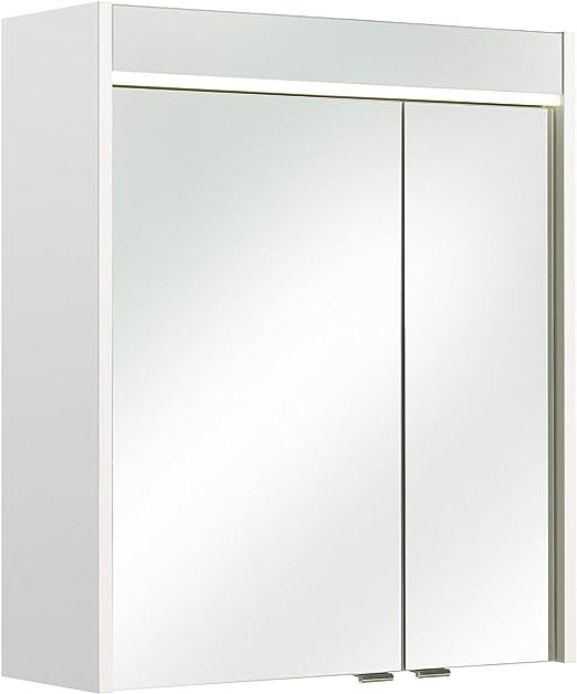 Spiegelschrank Multi Use Weiss Led Beleuchtung 3 Turig