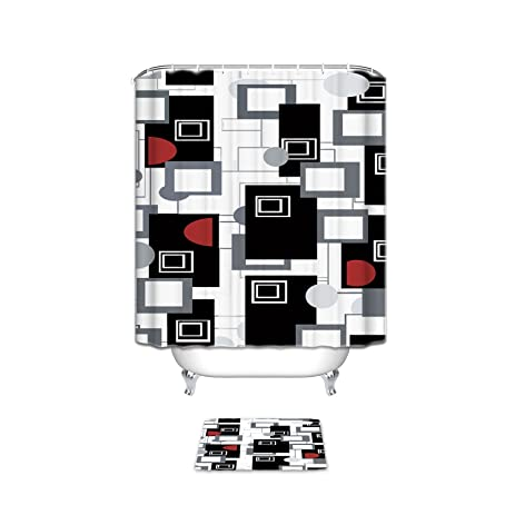 Exceptional Famous Home Fashions Polyester Shower Curtain, Urban Beat Bathroom Set With  Bath Mats Rugs  Images