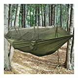 ARMY GREEN Military Jungle Hammock w Mosquito Net Camping Travel Parachute Hanging Bed Tent