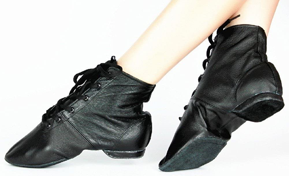 1900 -1910s Edwardian Fashion, Clothing & Costumes Cheapdancing Women's Leather Practice Dancing Shoes Jazz Boots Soft-Soled High Boots Black $19.99 AT vintagedancer.com