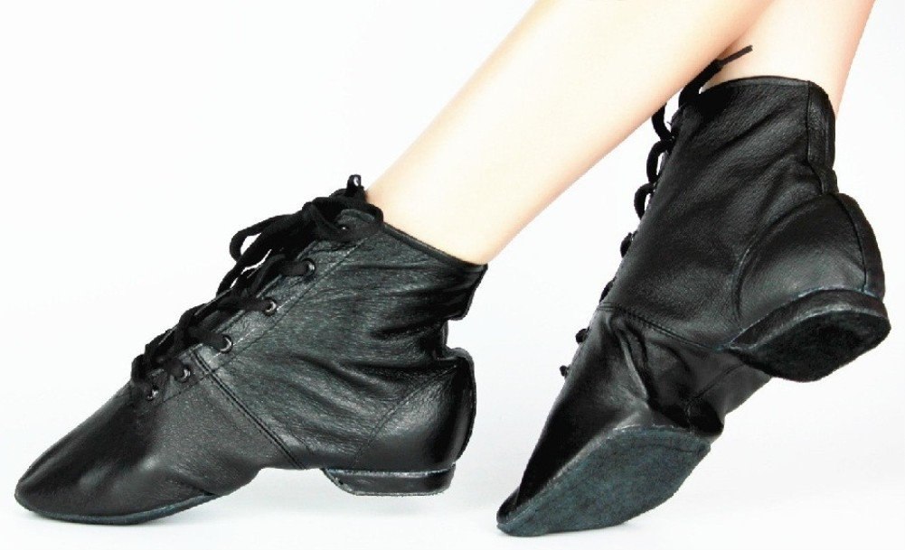 Cheapdancing Men's Practice Dancing Shoes Soft Leather Flat Jazz Boots (12 US Men/EU 48) by Cheapdancing