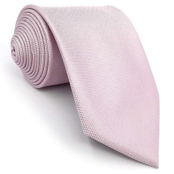 S&W SHLAX&WING Corbatas Para Hombre Color Sólido Rosa Classic Boda ...