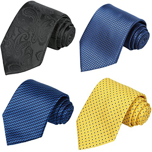 Big Tie - KissTies Set of 4 Ties 63'' XL Extra long Necktie Tall Tie