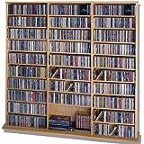 LDE LESLIE DAME Leslie Dame CDV-1500 High Capacity Oak Veneer Multimedia Cabinet, Oak