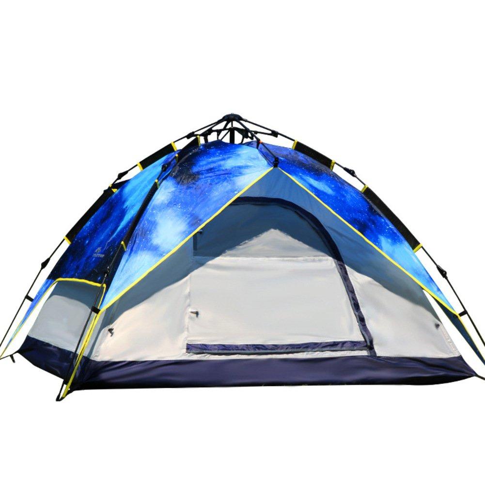 TY&WJ Automatisch Campingzelt,Regen Kuppelzelte Double Layer Tipi Für Outdoor-sportarten Klettern Wandern Set 4-jahreszeiten 3-4 Personen