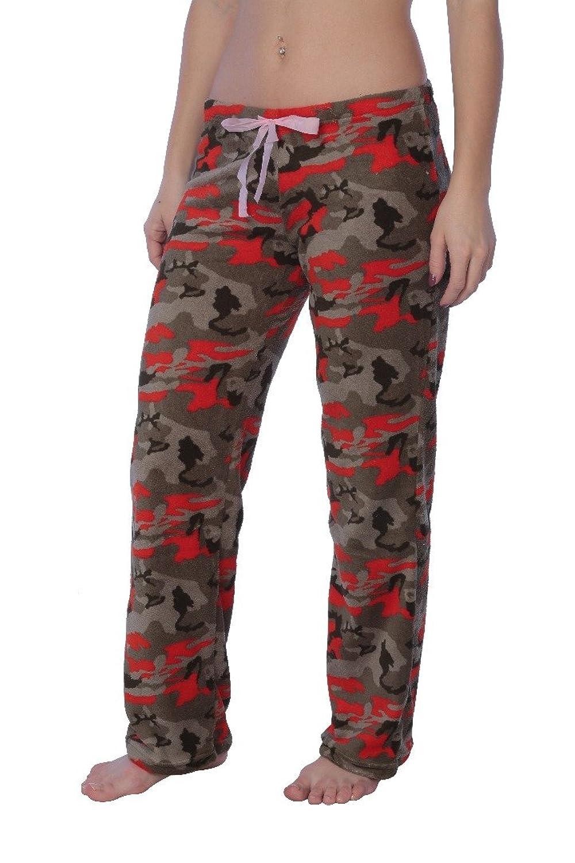 Active Club Women's Warm Printed Cozy Plush Lounge Pajama Pant