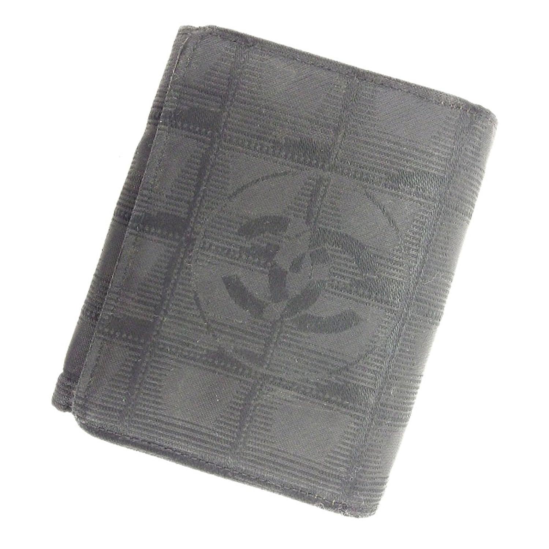 [シャネル] CHANEL 三つ折り 財布 二つ折り 財布 レディース メンズ 可 ニュートラベルライン 中古 ヴィンテージ T6163 B079Y18G2D