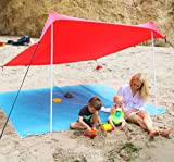Mad Grit Insane Deal Beach Shade Tent - UV Protection Lycra Canopy for Family Sun Shelter Protection
