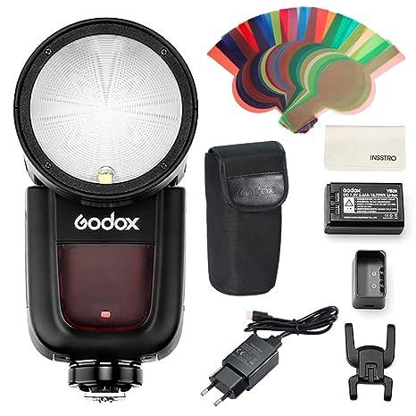 Godox V1N Flash Speedlite,de cámara de Cabeza Redonda TTL 2.4G HSS ...