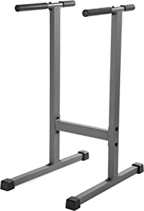 XMark Dip Station 500 lb Weight Capacity, Uniquely Engineered Angled Uprights Accommodate Men and Women XM-4443