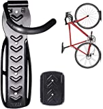 Dirza Bike Wall Mount Rack with Tire Tray - Vertical Bike Storage Rack for Indoor,Garage,Shed - Easy to install - Great…