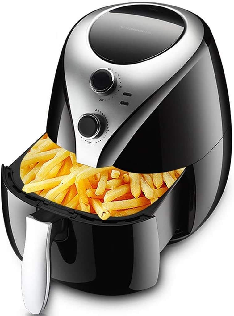 ZLJ Electric Air Fryer Air Fryer, 5L High Capacity Air Fryer, Household Multifunction Intelligent French Fries Machine, Fully Automatic Oil Free Electric Fryer (Color: Black, Size: 32,535.5cm)
