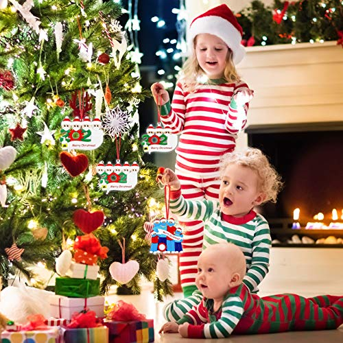 IGC Personalized Name Christmas Ornament Kit, 2021 Quarantine Survivor Family Customized Christmas Decorating Kit Creative Gift for Family (Family of 5)