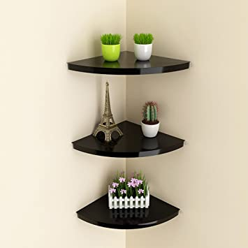 Amazon.com: HQCC DIY Corner Wall Rack Living Room Bedroom ...