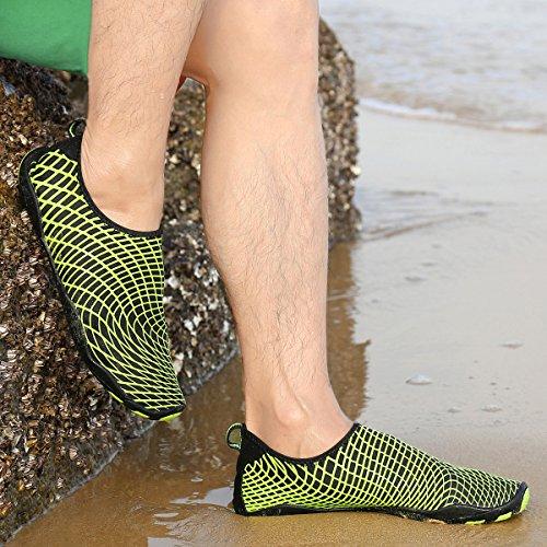 Fahren Barefoot Kinder Bootfahren Grün03 Strandschuhe Surfschuhe Wasserschuhe Damen Leaproo Hallensport Joggen Gehen Aquaschuhe Schwimmschuhe Herren Unisex für Badeschuhe See Yoga Zw7WxqUS