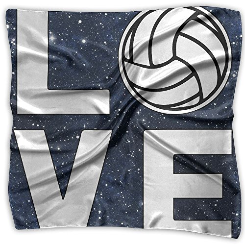 Love Volleyball Men Women Silky Scarf Head Wraps Bandana Scarves Set by EQE7QW (Image #1)