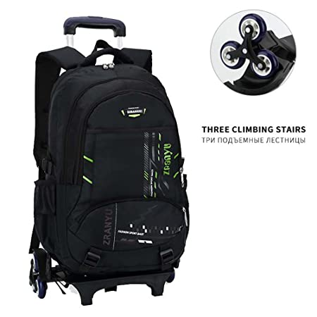 f3106148a High-Capacity Student Shoulder Backpack Rolling Luggage Children Trolley  Suitcases Wheel Cabin Travel Duffle School Bag,910800GE: Amazon.co.uk:  Luggage