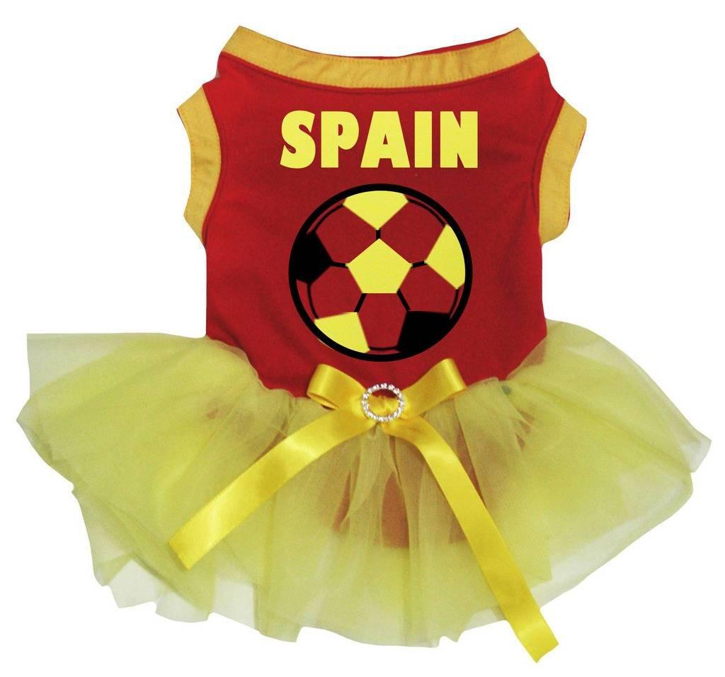 Petitebelle Vestido para perro, diseño de balón de fútbol, color ...
