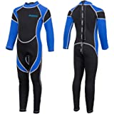 Kids Wetsuit Neoprene 2.5mm Thick Long Sleeve One Piece UV Protection Sun Protection Sunsuit Wetsuit for Girls Boys