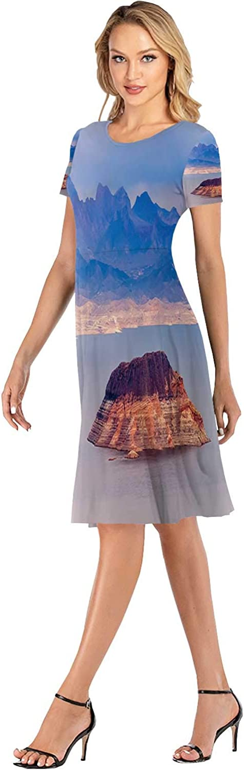 Square Abstract from Antelope Canyon Women Slim Party Dress,118502,S