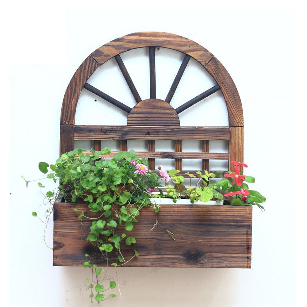Lxla Solide Wod Wand Blumentopf Stand Hangen Balkon Pflanzer