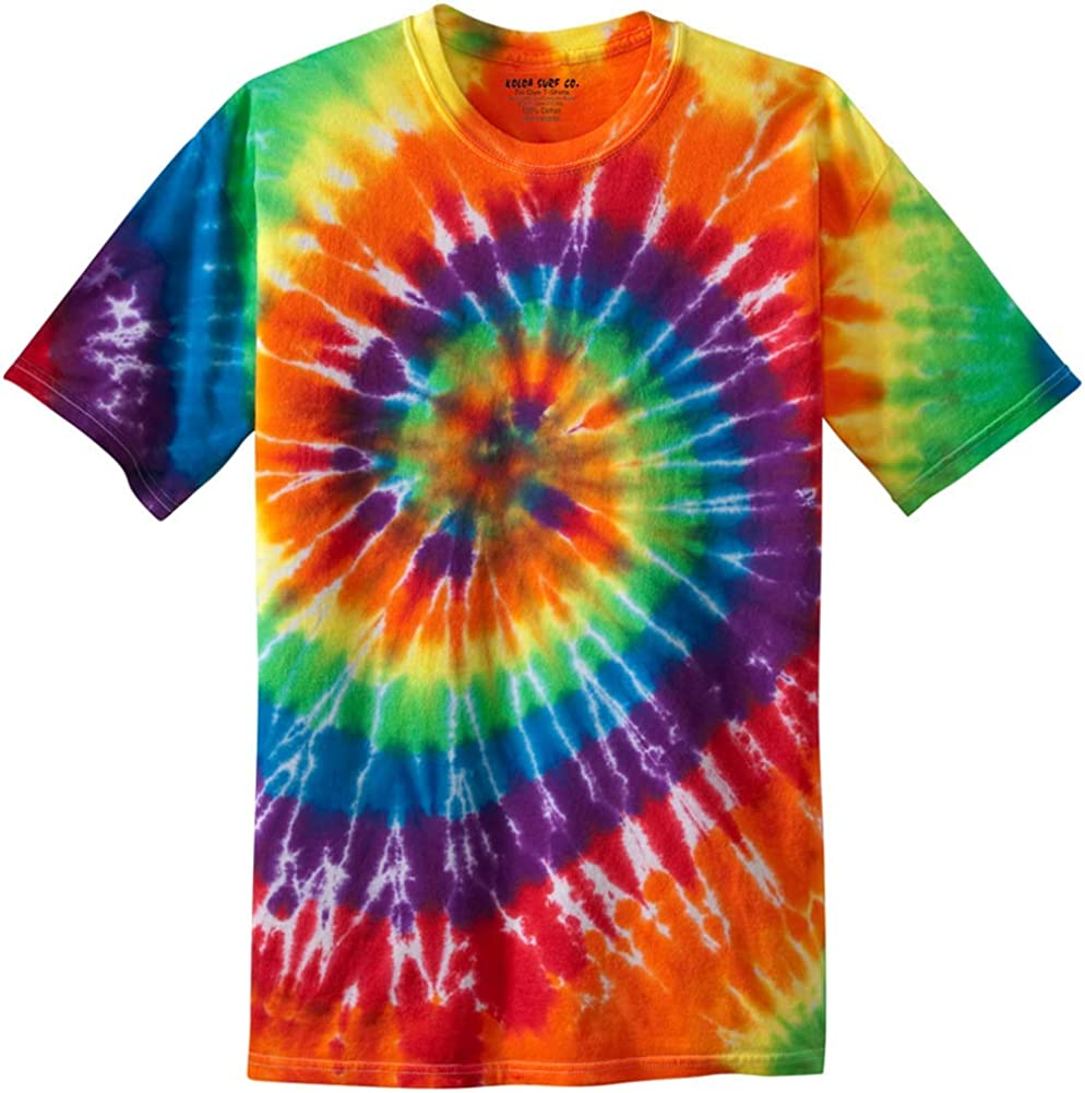 Koloa Surf Co. Colorful Tie-Dye T-Shirts in 17 Colors. Sizes: S-4XL: Clothing