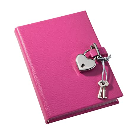 06525fc42a Amazon.com: POST Journal with Lock, Saffiano Pink, 4.25 x 6-Inch ...