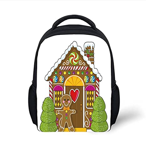 Amazon Com Iprint Kids School Backpack Gingerbread Man Cute