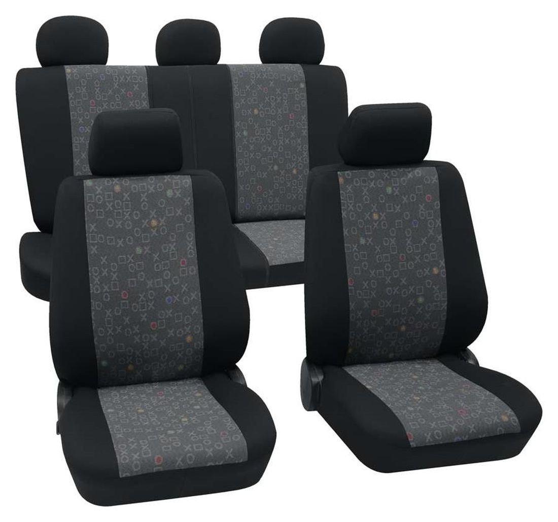 graphite black Faszination 95514 car seat covers complete set