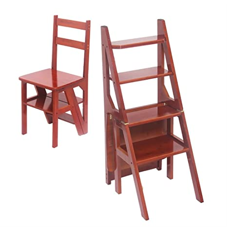 Excellent Amazon Com Solid Wood Step Stool 4 Step Climbing High Unemploymentrelief Wooden Chair Designs For Living Room Unemploymentrelieforg