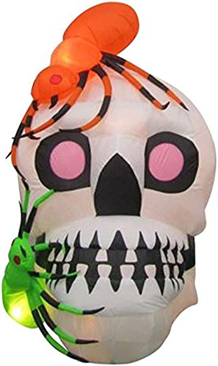 Halloween Large Skull Fall Autumn Large Outdoor Yard Wireframe Handmade Decoration Holiday Lighting