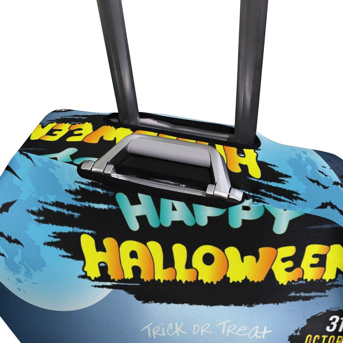 ALAZA Luggage Protector,Happy Halloween Pumpkin Hat With Cake Elastic Travel Luggage Suitcase Cover,Washable and Durable Anti-Scratch Case Protective Cover for 18-32 Inches