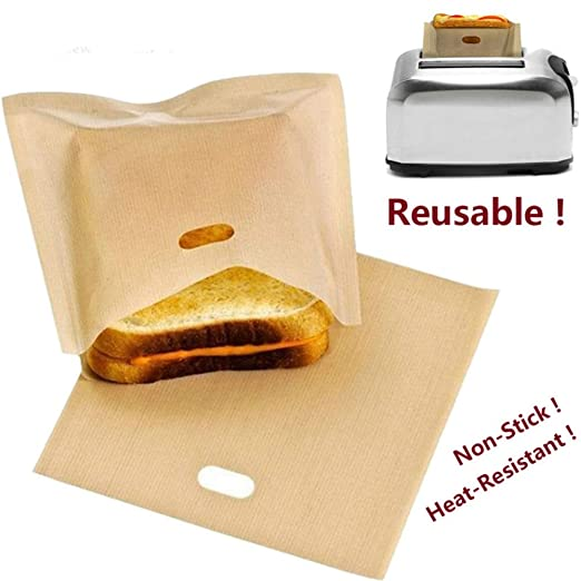 5 bolsas de pan reutilizables para tostadoras de sándwich ...