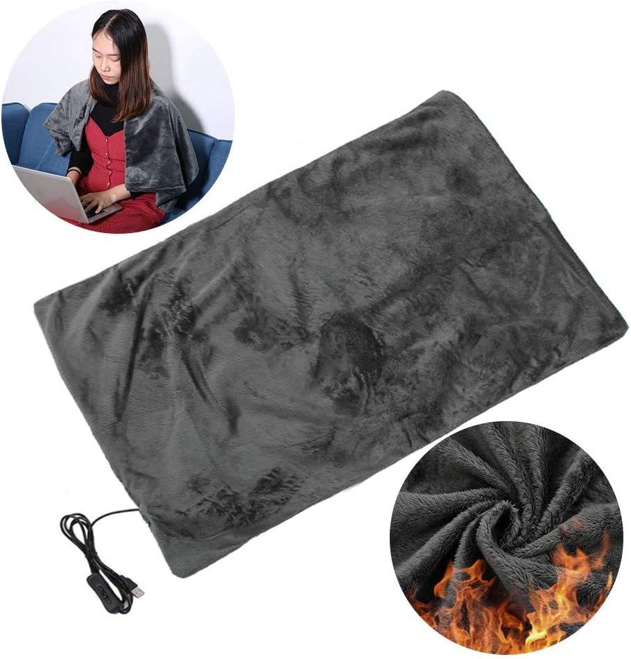 Electric Heated Blanket - Manta de Calefacción y Mantón para Mantener Caliente y Relax Rest - Seguridad(45 * 100cm)