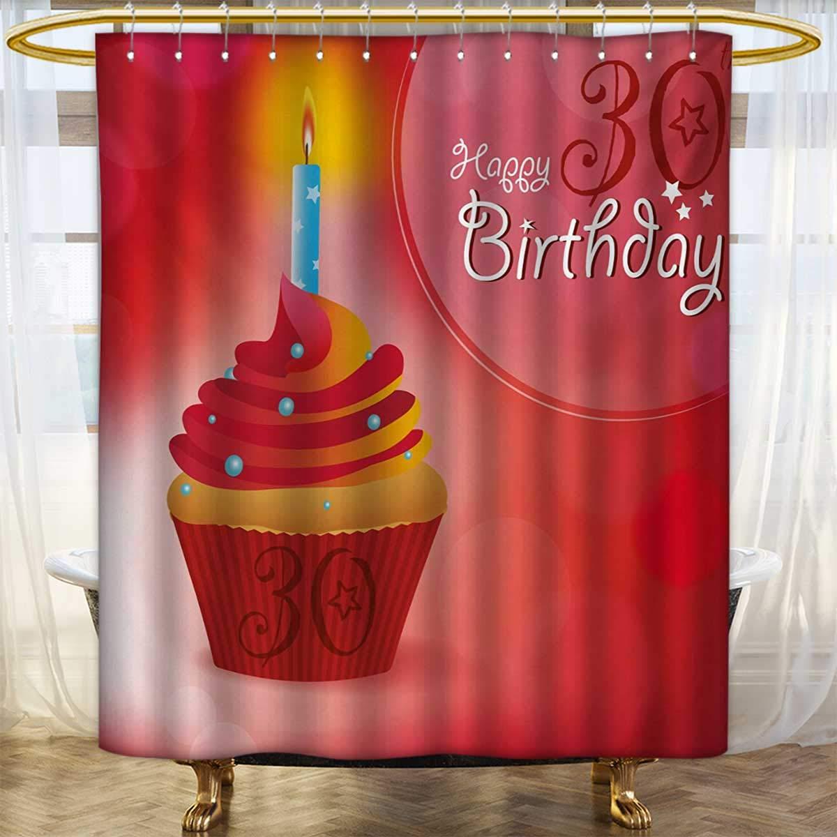 Lacencn Cortinas de ducha, 30 cumpleaños, impresión digital ...