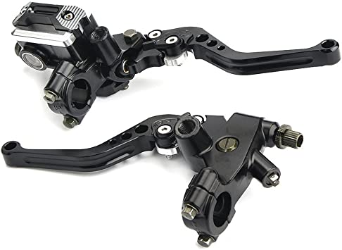 XtremeAmazing Universal Handlebar 7//8 Inch 22mm Hydraulic Brake Control Master Cylinder Clutch Lever for Motorcycle Pit Dirt Bike Left and Right Set Silver