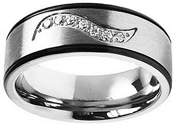Jewels By Lux Tungsten Laser Etched Masonic Center Brushed Mens Comfort-fit 7mm Wedding Anniversary Band Ring
