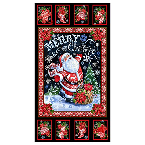 Merry Christmas Fabric (Timeless Treasures North Pole 24