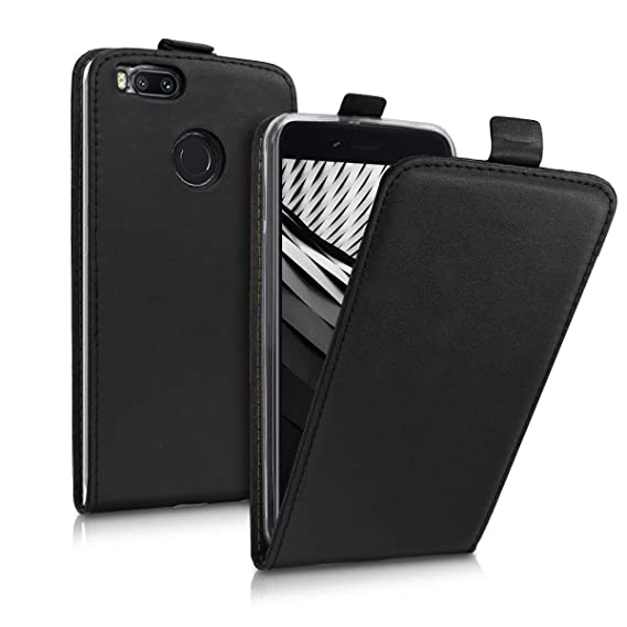 pretty nice 5b780 e228c Amazon.com: kwmobile Vertical Flip Case for Xiaomi Mi 5X / Mi A1 ...