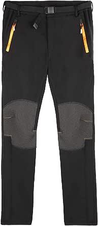 DEKINMAX Pantalones de Trekking Hombre Pantalones Térmicos Impermeable para Invierno Esquí Senderismo Montaña