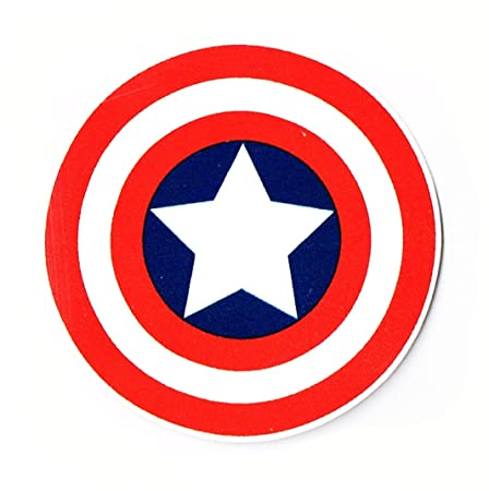 Cartoon Sticker ''Captain America Marvel Comics Logo Sticker''': Amazon.co.uk: Kitchen & Home