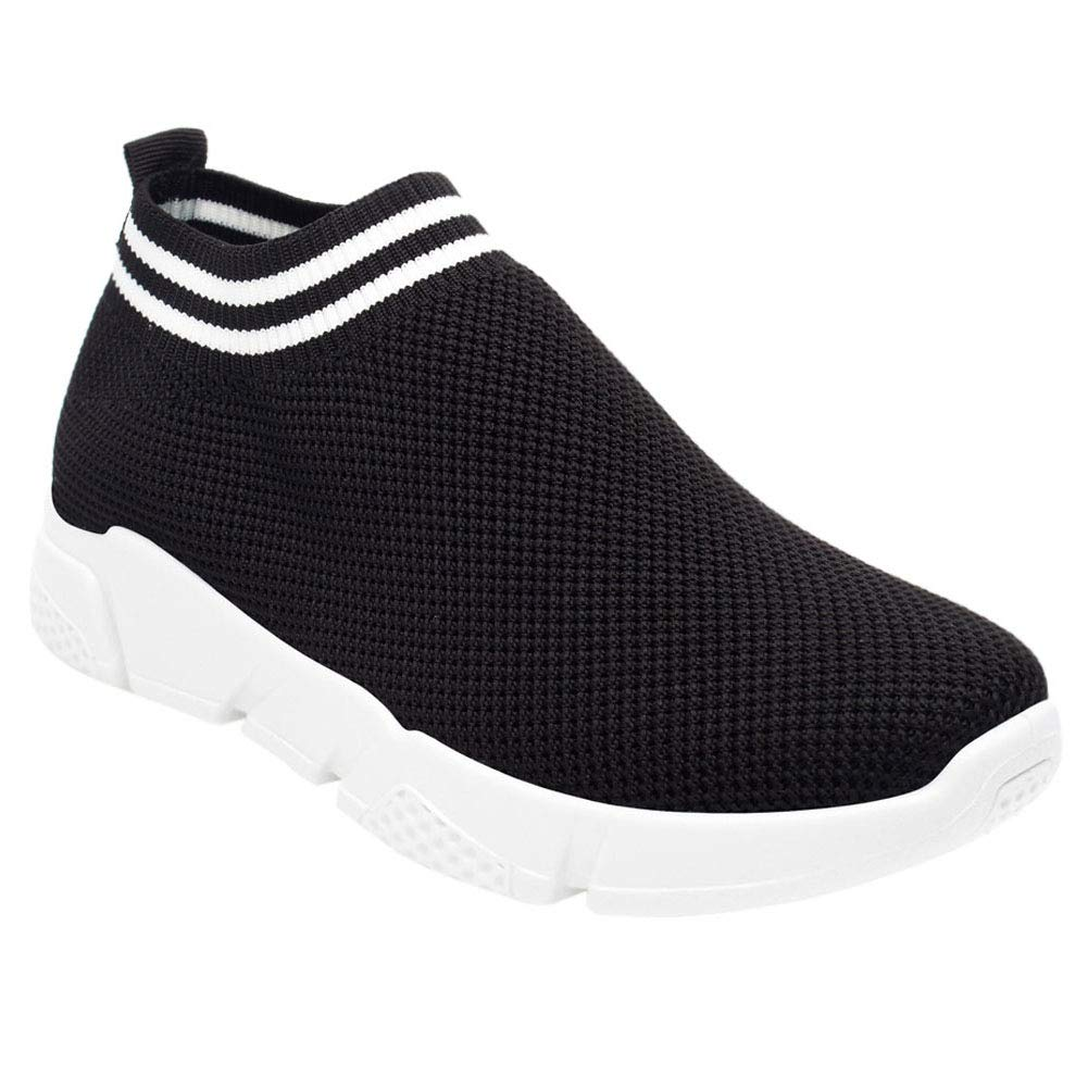 uirend Women Athletic Walking Shoes Trainers Breathable Outdoor Lightweight Casual Mesh Running Sneakers Slip-On Knit Gym