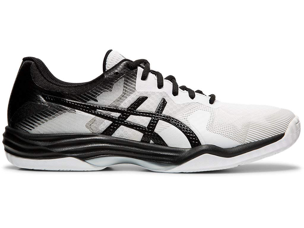 ASICS Men's Gel-Tactic 2 Volleyball Shoes, 10.5M, White/Black by ASICS