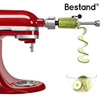 Bestand Spiralizer Attachment (7 Blades) Compatible with KitchenAid Stand Mixer,...