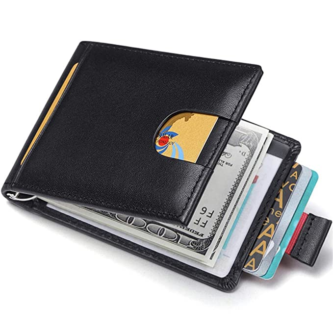 83344ef52a00 JEEBURYEE RFID Credit Card Holder Wallet for Men Slim Leather Small Card  Case Wallet